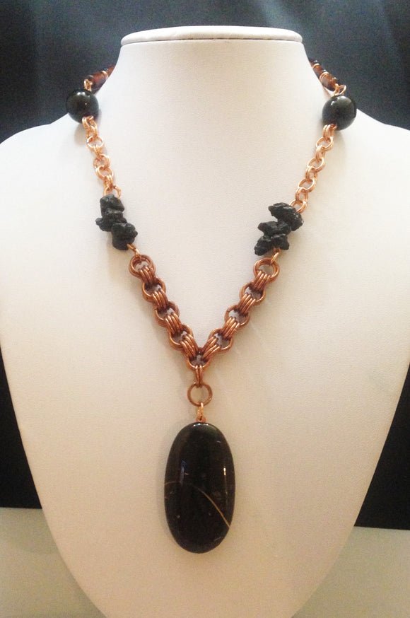Black Colus Fossil Necklace