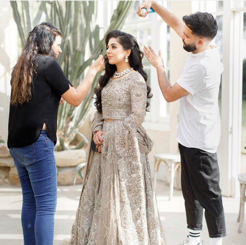Aamir and Ambreen styling Aanam with Hair and Make Up