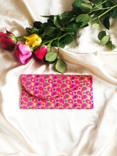 Load image into Gallery viewer, Brocade Luxe Money Wallet - Gold and Pink Paisley Design