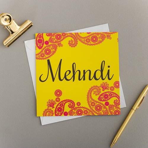 Mendhi Greeting Card/Invite