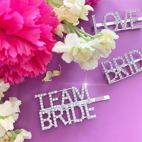 Team Bride Rhinestone Hair Clip