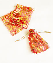 Load image into Gallery viewer, Organza Foil Print favour pouches 100Pk