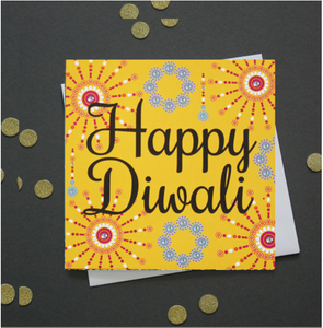 DIWALI CARD | FLASHING FIREWORKS
