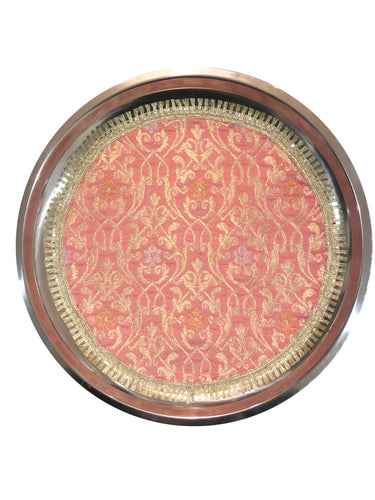 Brocade Shallow Thaal Tray