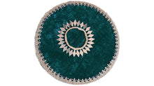 "Load image into Gallery viewer, 9"" Circular Velvet Mendhi Plate"