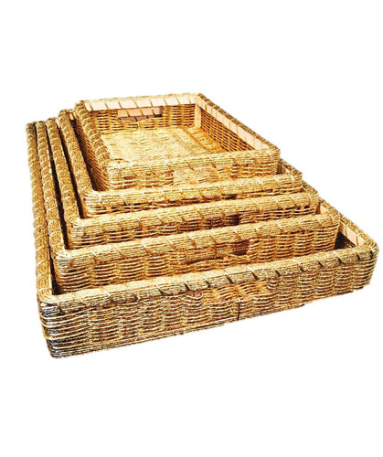 5 Golden Tray Hamper Baskets