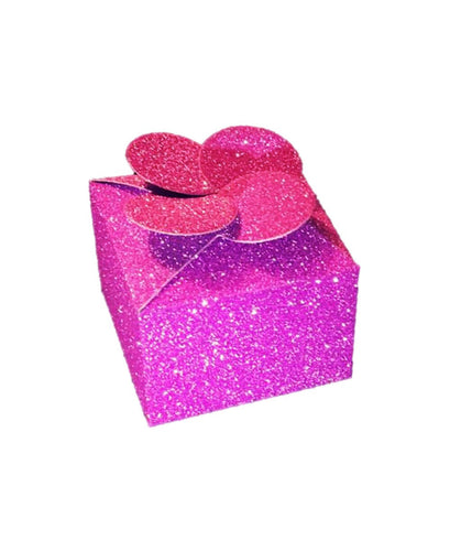 Glitter Cube Favor Box 10 pack