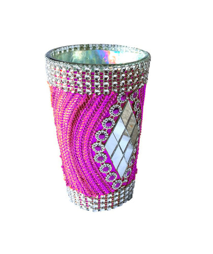 Ribbon Embellished Glass