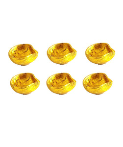 Traditional Gold Diya 6 Pack