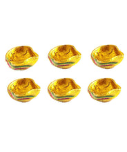 Load image into Gallery viewer, Traditional Gold Diya 6 Pack