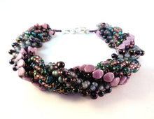 Load image into Gallery viewer, Triple Spiral Bracelet Beading Pattern