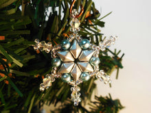 Load image into Gallery viewer, Snowflake Ornament Beading Pattern