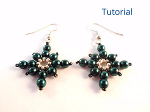 Icy Snowflake Earrings Beading Pattern