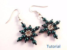 Load image into Gallery viewer, Icy Snowflake Earrings Beading Pattern