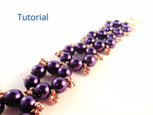 Load image into Gallery viewer, Snowflake Earrings and Bracelet Beading Pattern