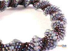 Load image into Gallery viewer, Cellini Spiral Bangle Beading Pattern