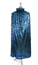 Load image into Gallery viewer, One-of-a-Kind Aqua Blue Sequin Cape