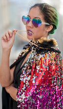 Load image into Gallery viewer, Rainbow Magic Sparkle Qween Sequin Cape