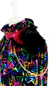 Rainbow Prism Metallic Cape