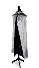 Load image into Gallery viewer, Mysterious Magician Silver Velvet Cape