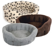 P&L Country Dog  Oval Sherpa Fleece Dog Bed