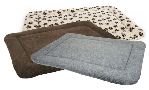P&L Country Dog Sherpa Fleece Rectangular Cushion Pad Dog Beds.