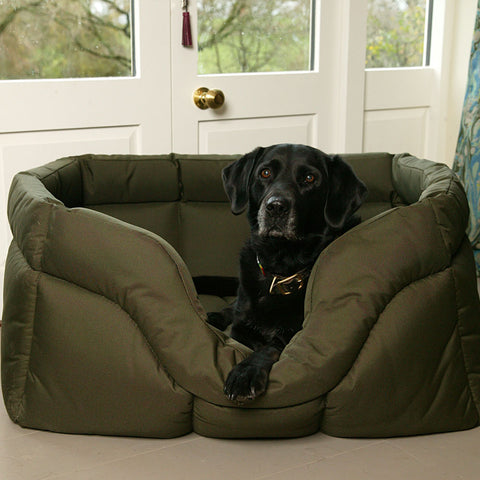 P&L Country Dog Tough Heavy Duty Rectangular High Sided Waterproof Dog Bed
