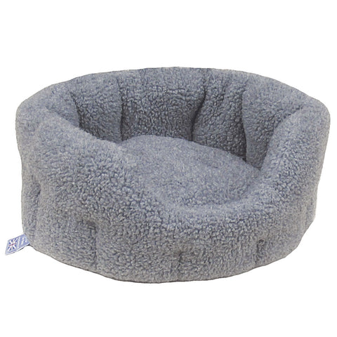 P&L Country Dog  Oval Sherpa Fleece High Sided Dog Bed