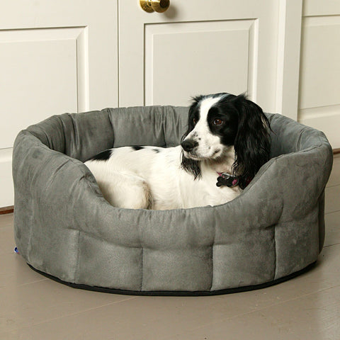 P&L Country Dog Heavy Duty Oval Faux Suede Bolster Style Dog Beds.