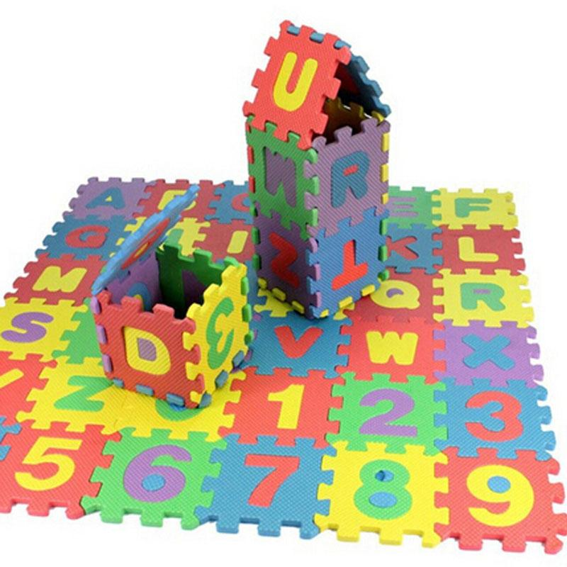36pcs Foam Alphabet/Numbers Puzzle Mat For Toddlers (Reduced Size)