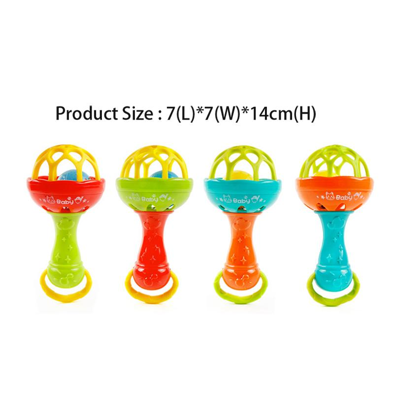 Grasping Gums Plastic Hand Bell Rattle