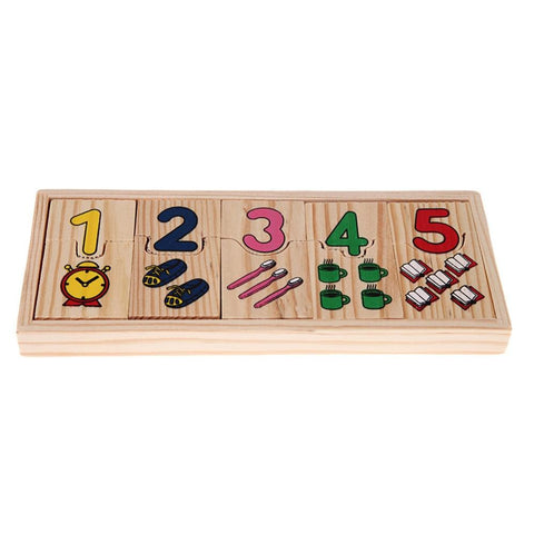 Wooden Number Counting Educational Puzzle