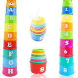 8PCS Stack Up Cup Tower For Early Education