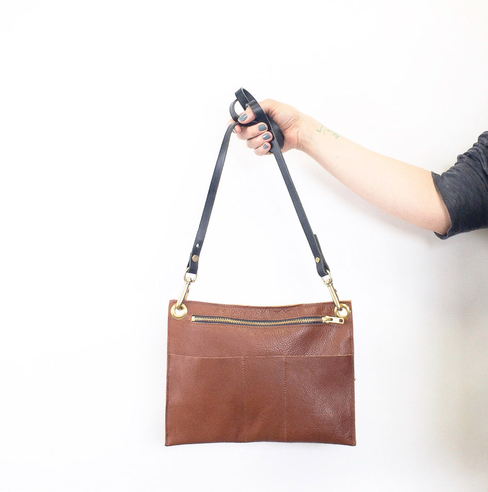 katherine - brown crossbody (ready to ship!) - materials and methods