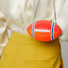 Judith Leiber Crystal football pigskin clutch