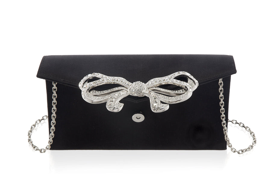 Bow Envelope Satin Black