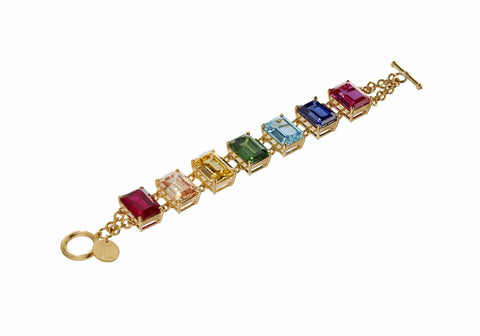 Large Gem Toggle Bracelet