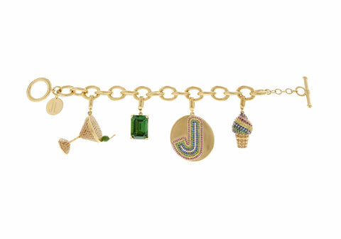Martini & Ice Cream Cone Charm Bracelet