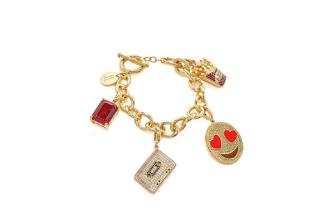 Fresh and Hot French Fries & Love Charm Bracelet