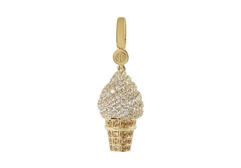 Large Ice Cream Cone Charm Vanilla