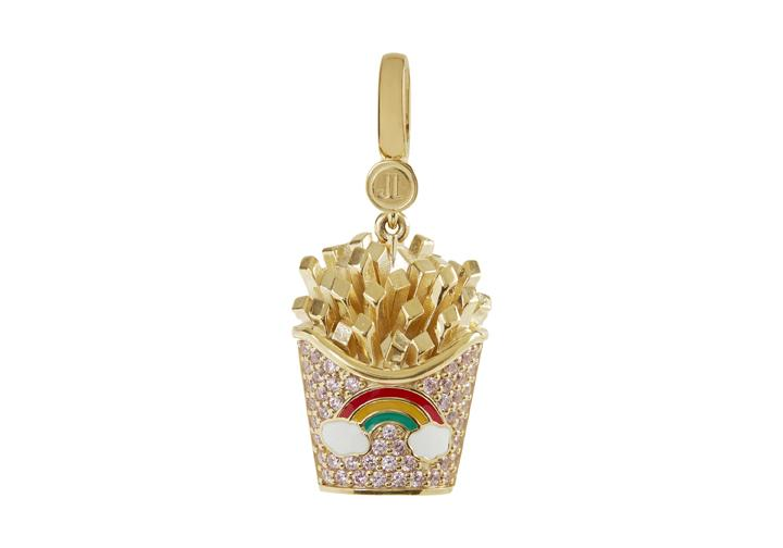 Rainbow French Fries Charm