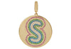 Rainbow Initial Medallion