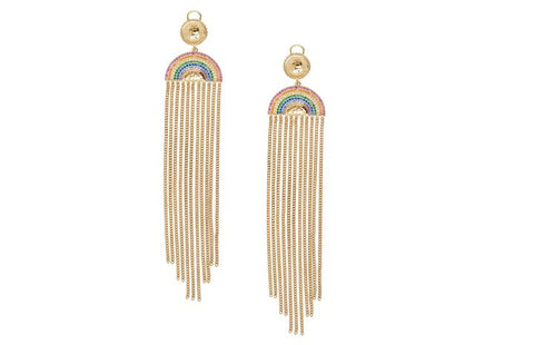 Rainbow & Chains Earrings