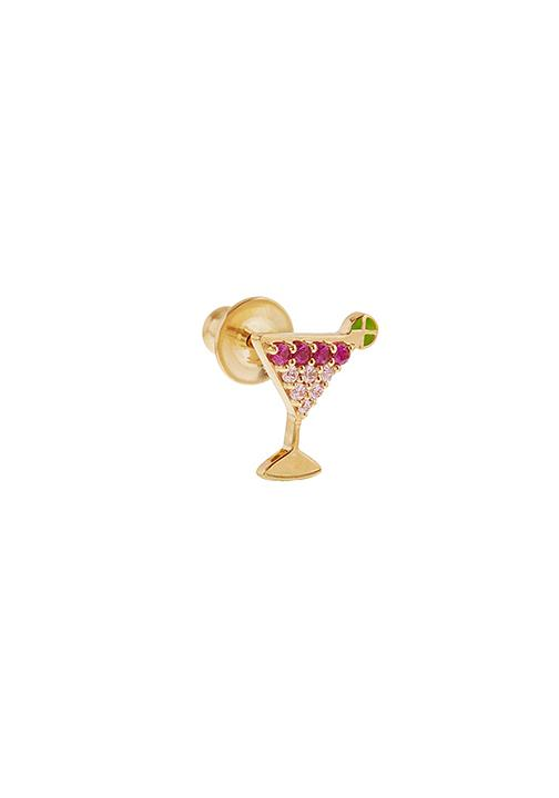 Martini Cosmopolitan Stud Earrings