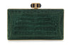Crocodile Emerald Faceted Clutch