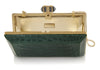 Crocodile Emerald Champagne Clutch
