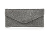 Envelope Grey Crystal Clutch