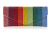 Envelope Rainbow Crystal Clutch
