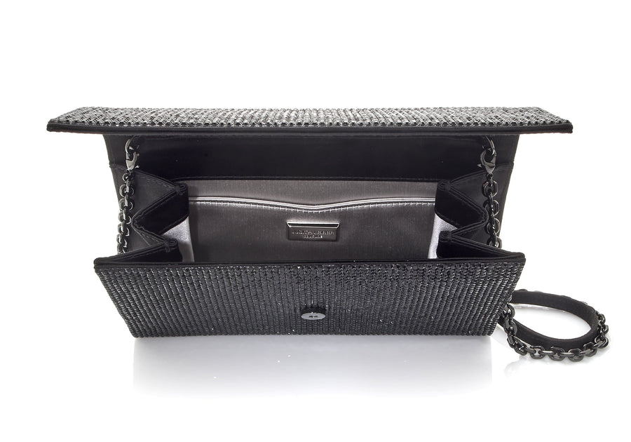 Fizzoni Black Crystal Clutch