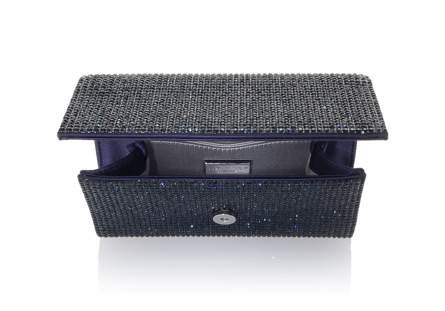 Fizzy Navy Crystal Clutch